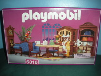 Playmobil 5316 victorian dining f vintage fisher price for Playmobil dining room 5335